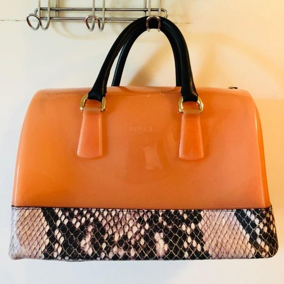 9f35ba52cc52 Furla Handbags - Furla Candy Bag With Python Print